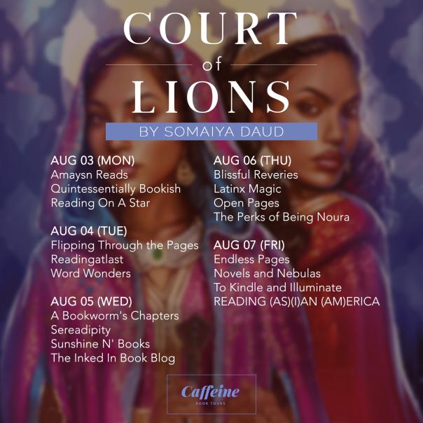 Tour Schedule (Court of Lions)